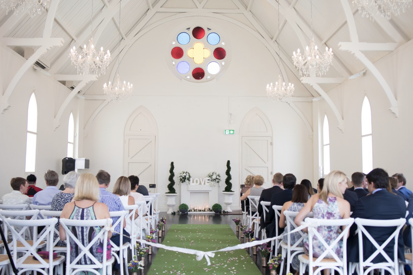 wedding ceremony styling wow weddings high church brisbane grass aisle