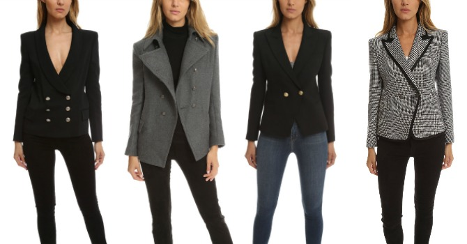 pierre balmain blazer on sale blue and cream