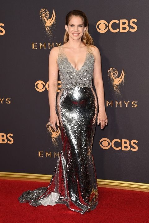 Anna Chlumsky in Sachin and Babi Emmy Awards 2017 best dressed