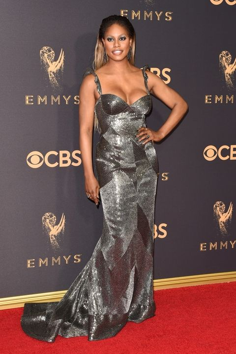 Laverne Cox in Naeem Khan Emmy Awards 2017 best dressed