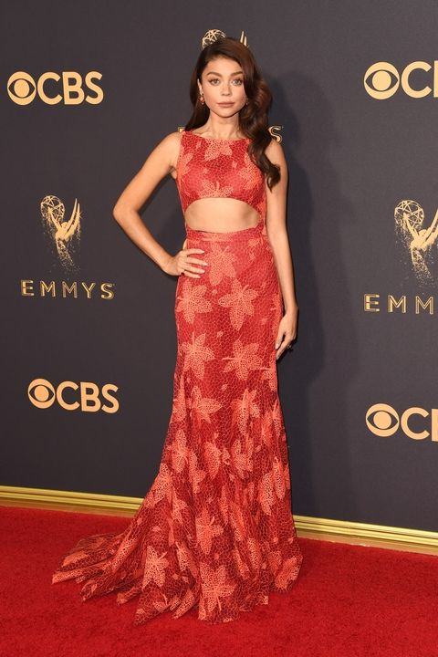 Sarah Hyland in Zac Posen Emmy Awards 2017 best dressed