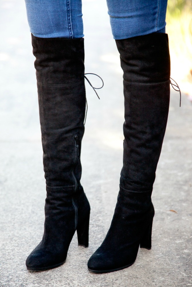 Stuart Weitzman over the knee boots top fall fashion trends 2