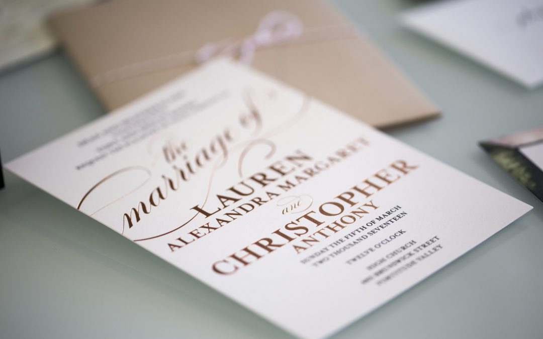 Friday Faves – Our Beautiful Wedding Invitations