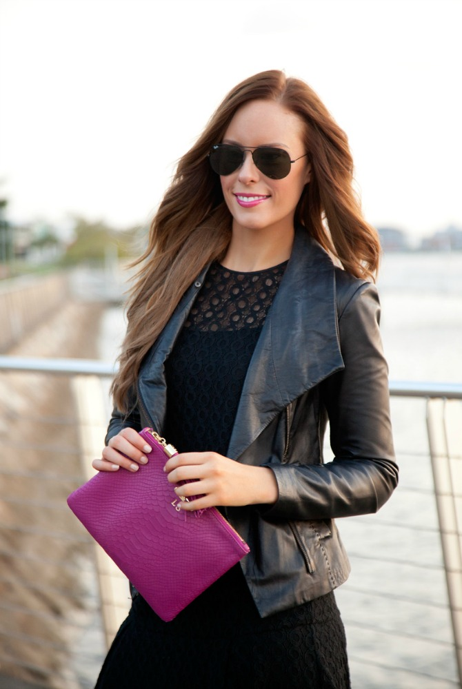 Leather Outfit Ideas You Need To Try vince scuba leather jacket review fashion blogger lauren slade style elixir blog