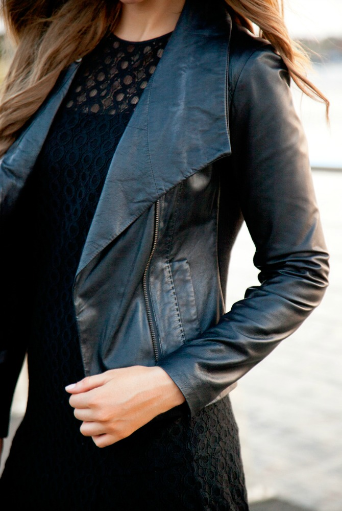 cool girl leather jackets outfit ideas vince black leather jacket fashion blogger