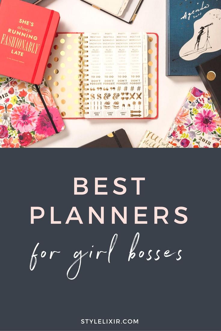 Best 2018 planners girl bosses bando agenda kate spade diary
