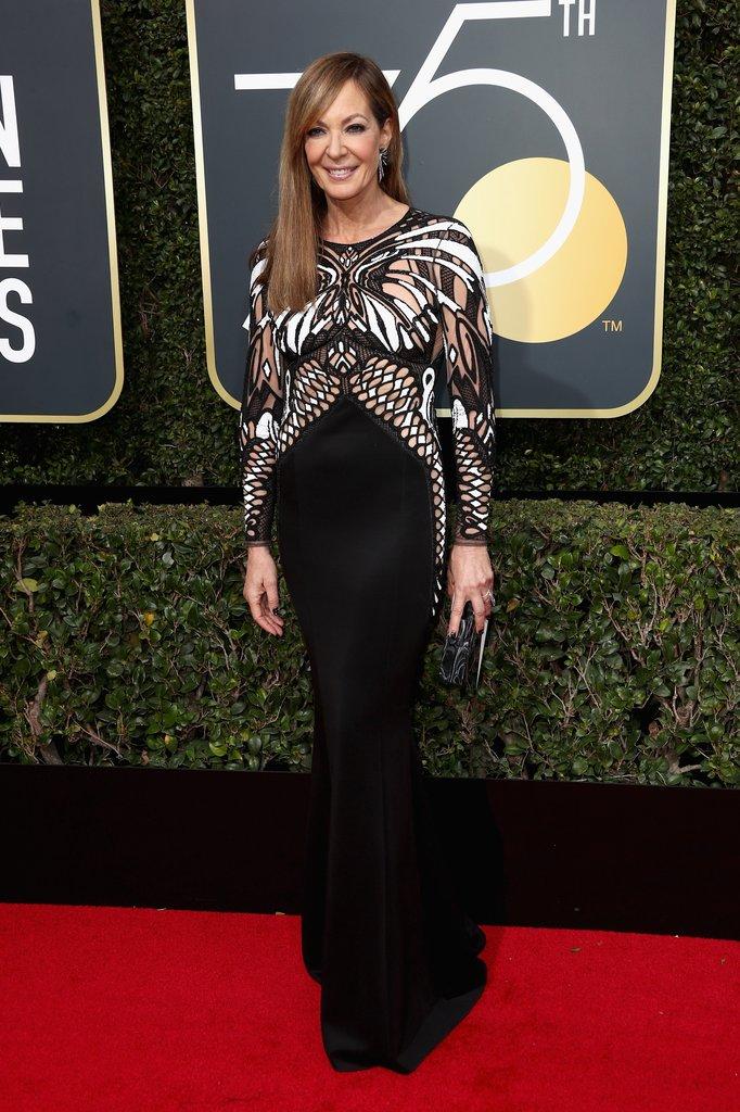 Allison-Janney golden globes fashion 2018 hollywood blackout best dressed