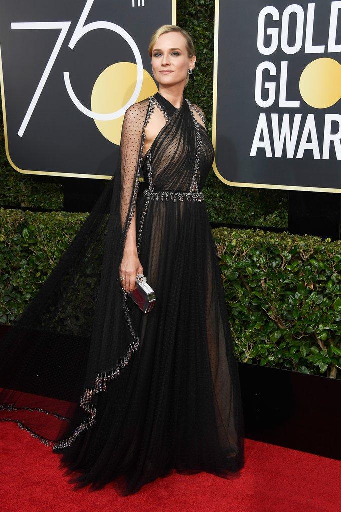 Diane-Kruger globes fashion 2018 hollywood blackout best dressed