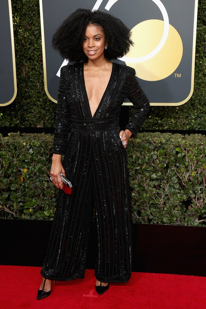 Susan-Kelechi-Watson golden globes fashion 2018 hollywood blackout best dressed