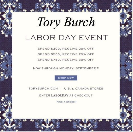 Tory Burch Labor Day Sale