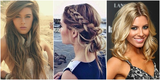 Hairstyle Loose Beachy Waves Blonde Brunette Golden Color