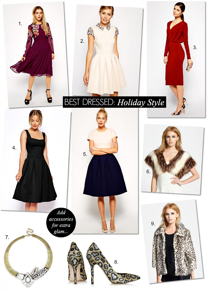 Best dressed holiday season fashion party dresses sequins red dress christmas new years eve dress fur leopard asos topshop baublebar sequin heels fashion style elixir blogger www.stylelixir.com blog