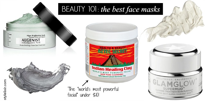 the best face masks aztec secret indian healing clay mask glam glow supermud mask algenist algae brightening mask beauty blogger face mask review style elixir blog www.stylelixir.com celebrity beauty skincare secrets