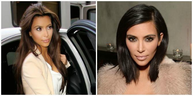 Kim Kardashian short hair 2015