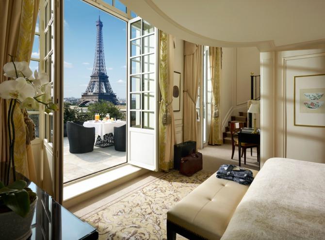 shangri-la paris france view eiffel tower hotel