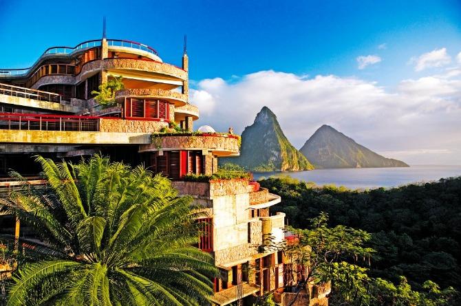Jade Mountain Resort, St lucia Caribbean luxury resort travel vacation