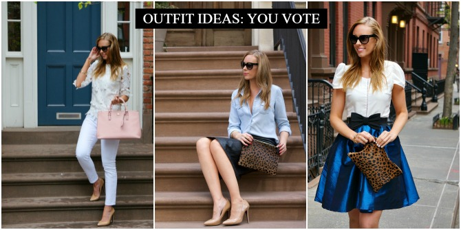 Outfit white on white tory burch pink handbag blush leather pencil skirt clare v leopard clutch west village new york