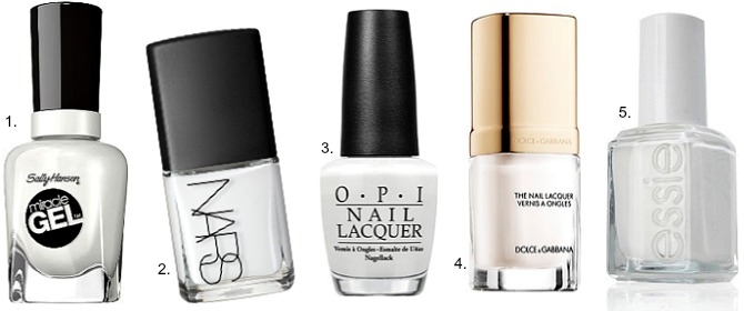 the best white nail polishes review opi alpine snow essie blanc sally hansen miracle gel get mod nars ecume