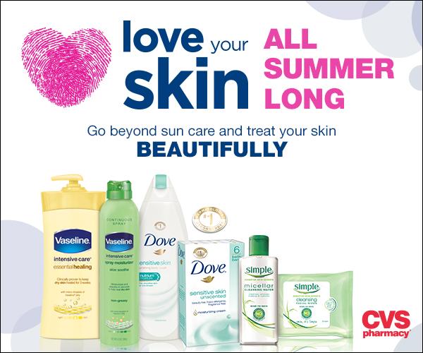 CVS Love Your Skin All Summer Vaseline Simple Dove skin