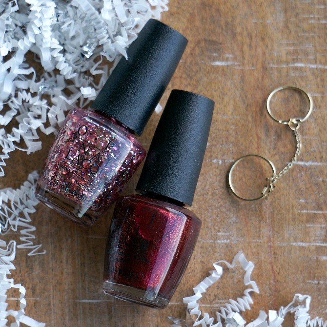OPI Starlight collection holiday 2015 nail jewels nail art glitter polish