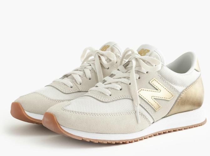 New Balance JCrew 620 Sneakers gold