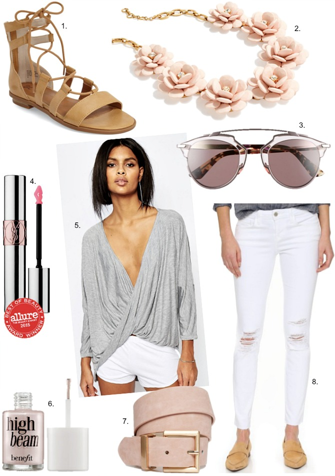 Wearing Neutral Tones spring colors spring outfits blush gray white distressed jeans