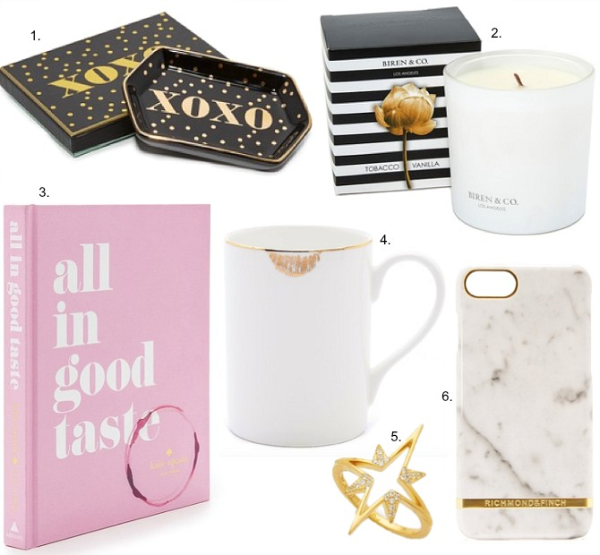 christmas-gifts-shopbop-gold-lips-mug-white-marble-iphone-case