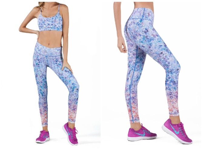 Daydream pink and blue printed leggings wear it to heart