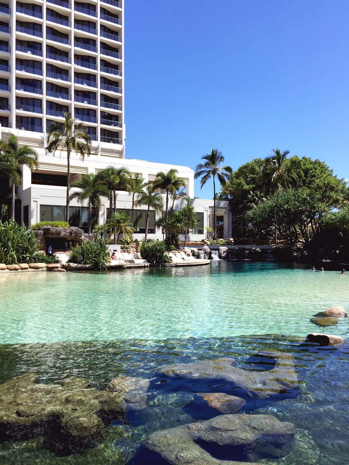 surfers paradise marriott resort and spa gold coast australia beach honeymoon romantic couples holiday luxury vacation hotel review lagoon resort pool snorkeling