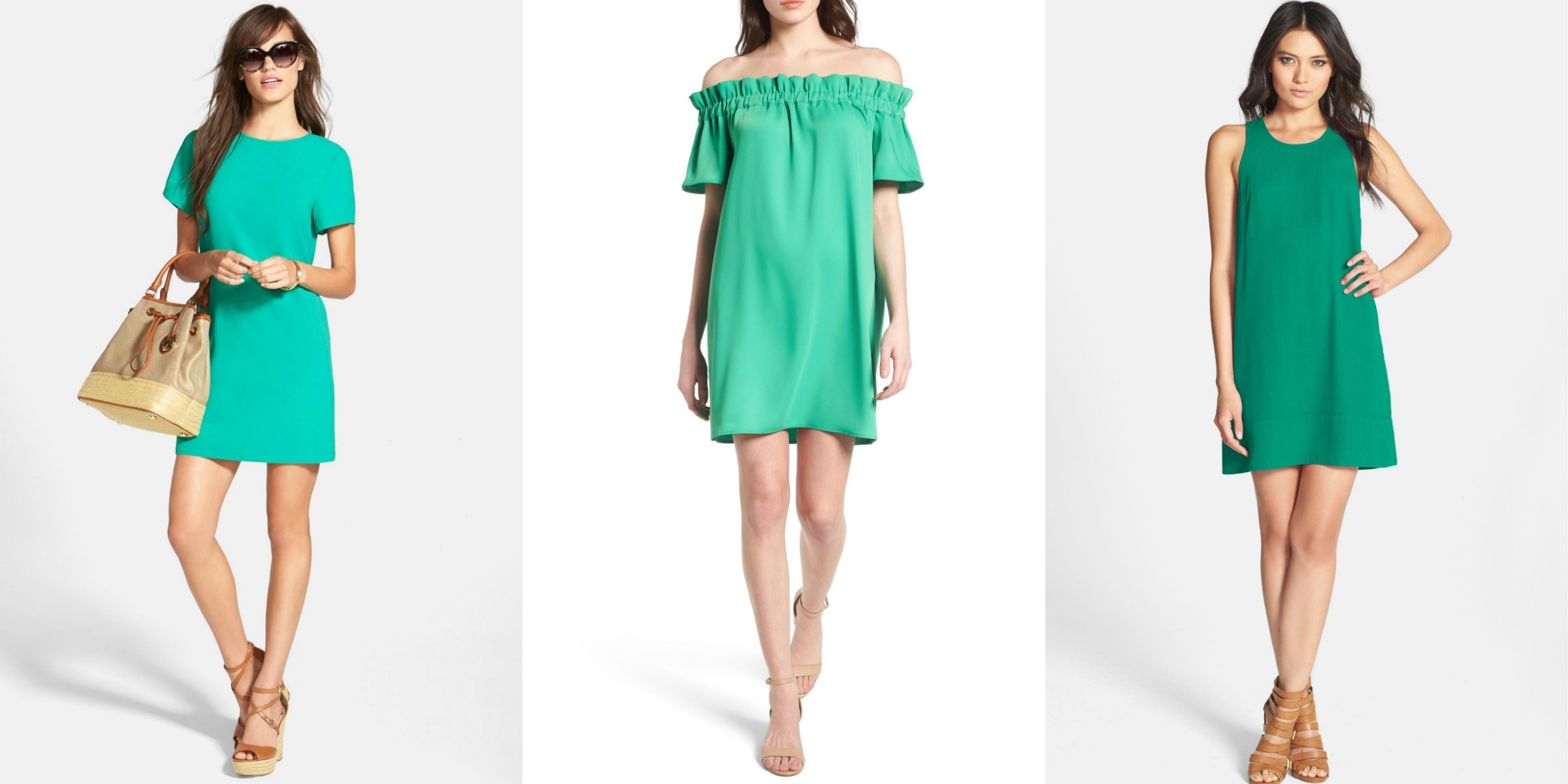 summer vacation dresses emerald green color outfits