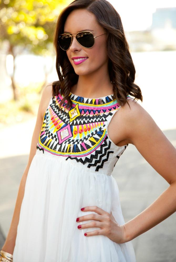 pretty summer dresses white boho maxi dress