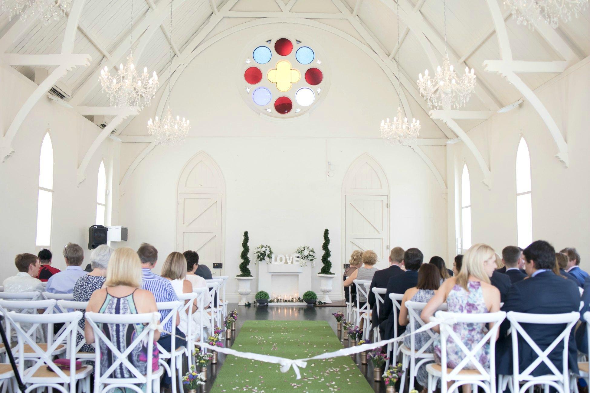 high church brisbane pretty white wedding church Wedding Day Video