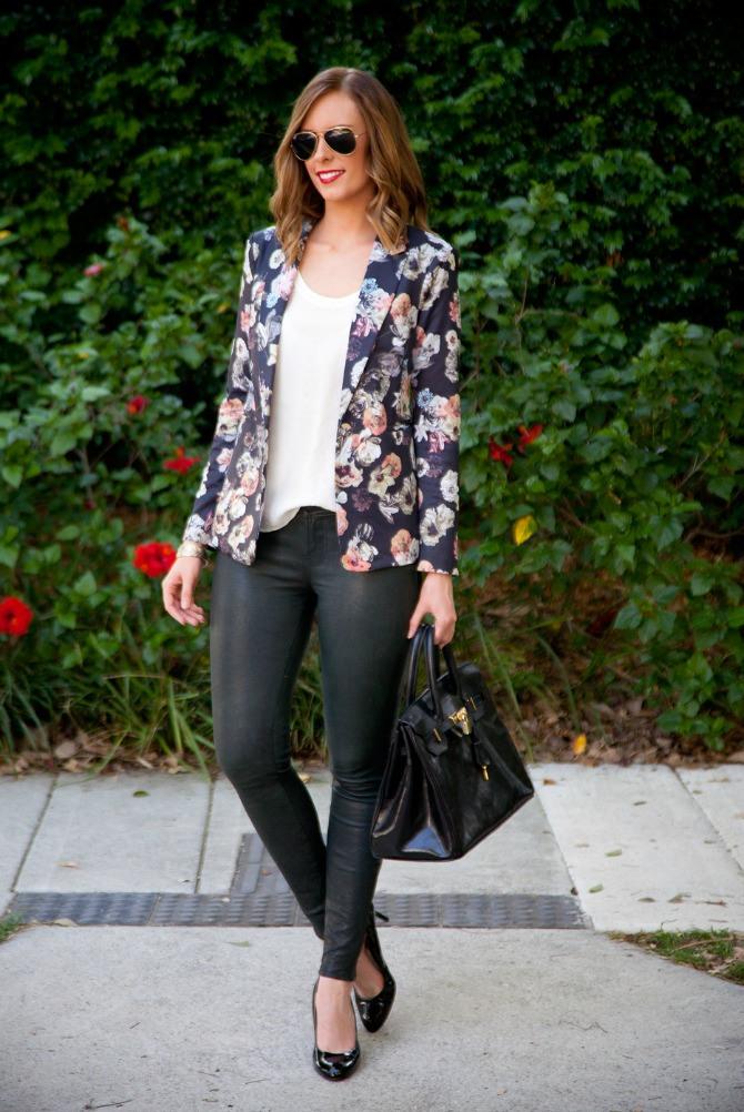 black floral blazer How to wear a blazer