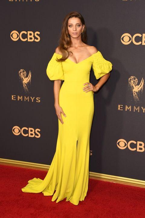 Angela Sarafyan in Elizabeth Kennedy Emmy Awards 2017 best dressed