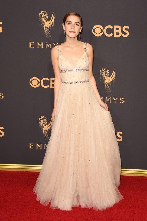 Kiernan Shipka in custom Miu Miu Emmy Awards 2017 best dressed