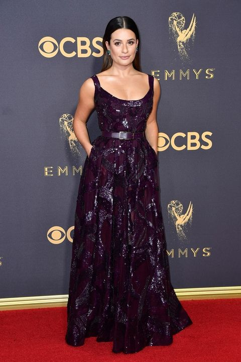Lea Michele in Elie Saab Emmy Awards 2017 best dressed