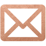 Email rose gold icon style elixir blog design