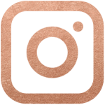 Instagram rose gold icon style elixir blog design