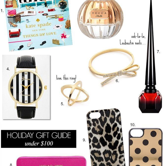 Holiday Gift Guide – Gifts For Her Under $100
