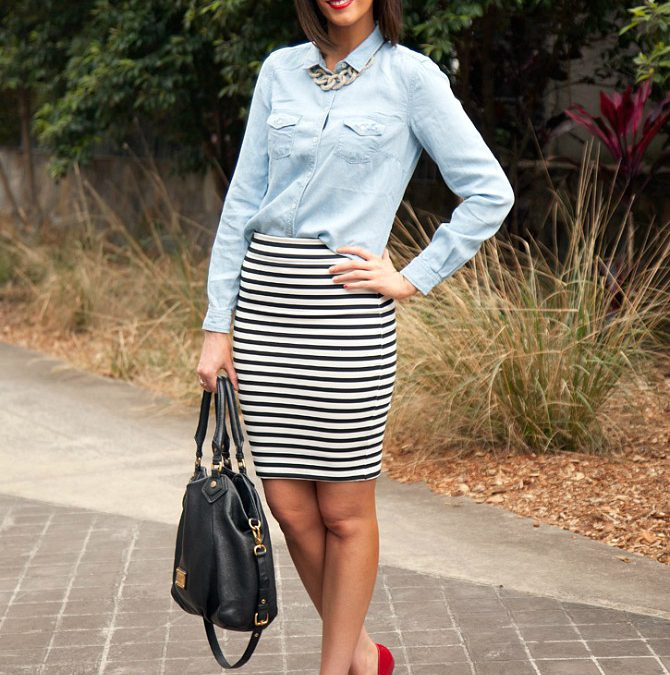 Style Sessions Blog Link Up: My Most Popular Pinterest Pin – Stripes and Chambray