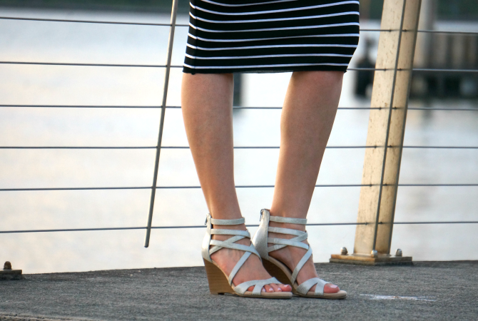 9fcdf4f30a34 Bailey 44 signature striped column dress lauren slade fashion blogger new  york style elixir blog aerosoles