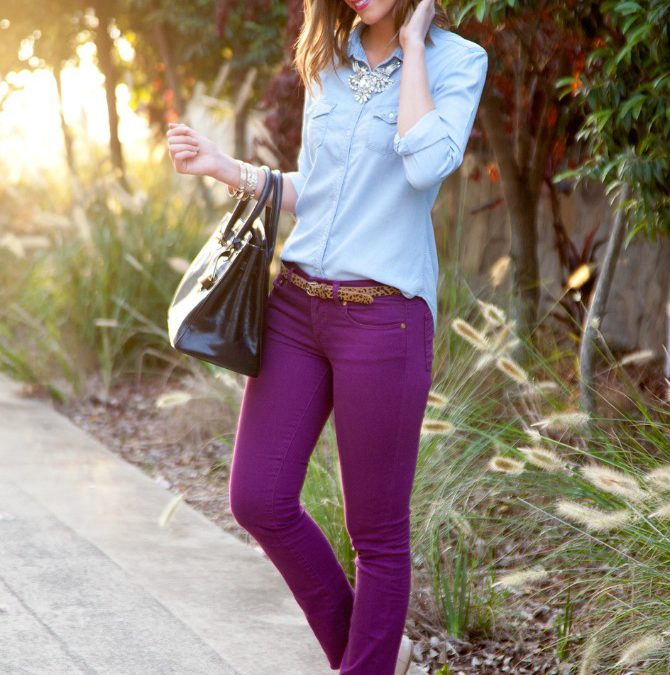 Style Sessions – Colored Jeans and Chambray