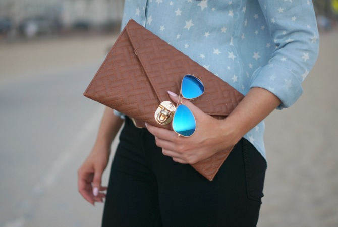 4th of July Outfit Idea - Star Chambray Shirt featured by popular US fashion blogger Style Elixir