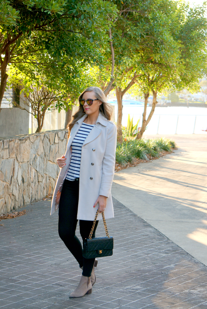 8-chanel-handbag-review-what-goes-around-comes-around-how-to-wear-ankle-booties-the-best-winter-coats-diff-sunglasses-australian-fashion-blogger-lauren-slade-stripe-jcrew-top | Steven Madden booties and new Chanel handbag featured by popular US fashion blogger, Style Elixir