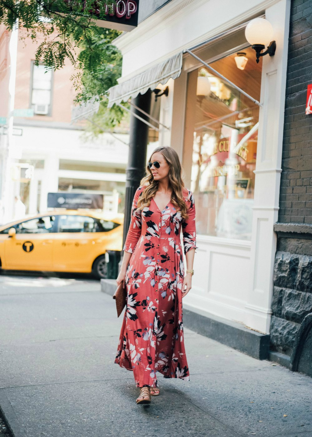 yumi kim maxi dress new york spring outfit soho lauren slade style elixir fashion blog 1 | Summer Floral Maxi Dress in Soho featured by popular US blogger Style Elixir