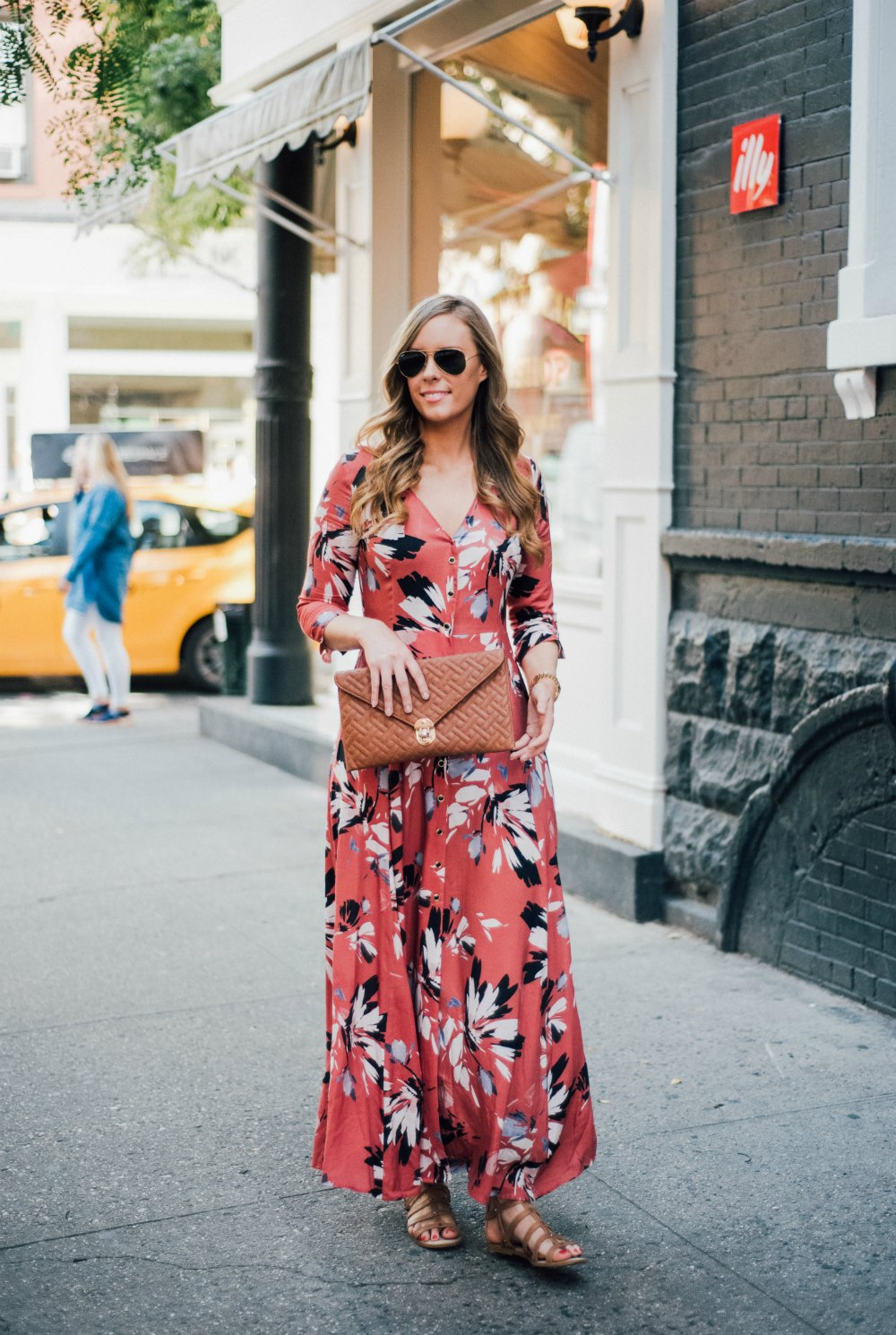 yumi kim maxi dress new york spring outfit soho lauren slade style elixir fashion blog 2 | Summer Floral Maxi Dress in Soho featured by popular US blogger Style Elixir