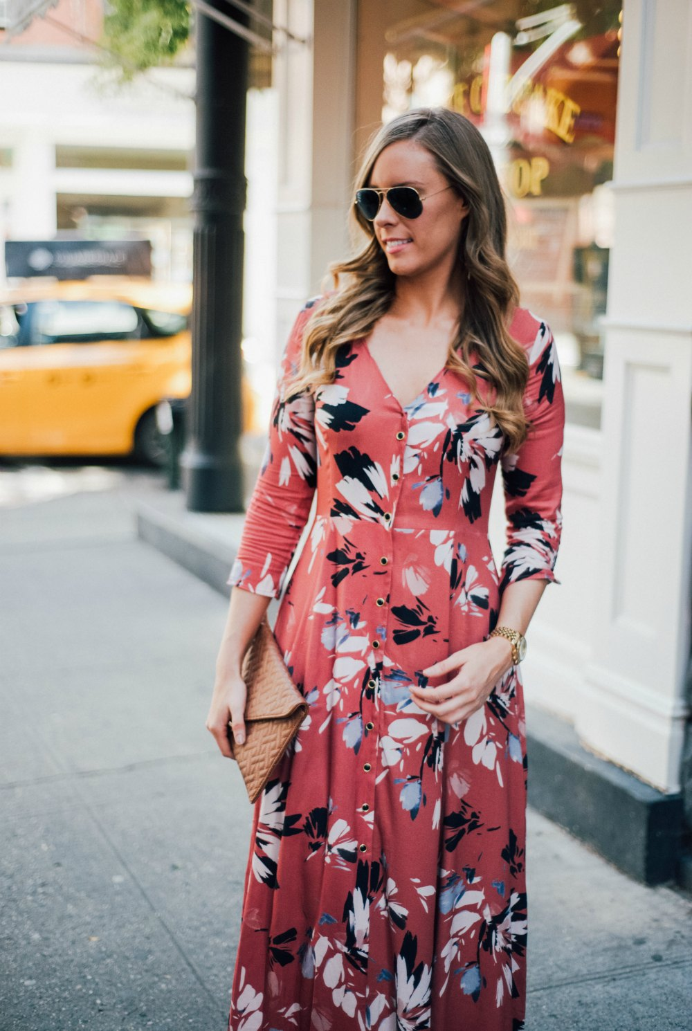 yumi kim maxi dress new york spring outfit soho lauren slade style elixir fashion blog 3 | Summer Floral Maxi Dress in Soho featured by popular US blogger Style Elixir