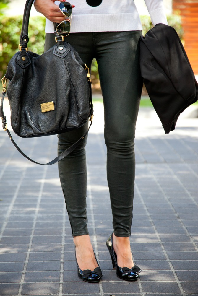 Leather Outfit Ideas You Need To Try j brand leather pants review fashion blogger lauren slade style elixir