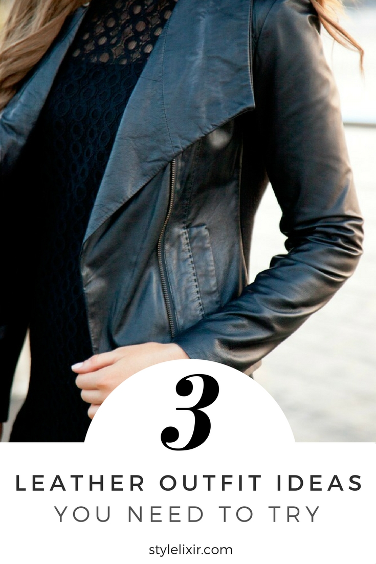 Leather Outfit Ideas You Need To Try pinterest vince leather jacket skirt and pants review fashion blogger