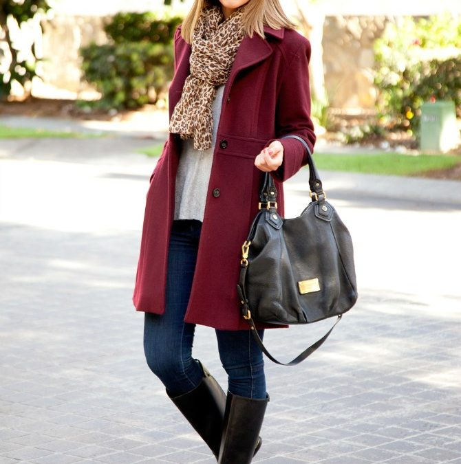Style Sessions – Oxblood Colored Winter Coat